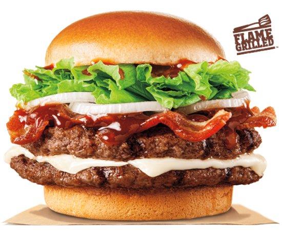Burger King A1 Hearty Mozzarella Bacon Cheeseburger