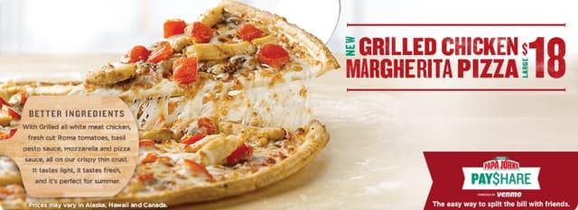 Papa John s Grilled Chicken Margherita