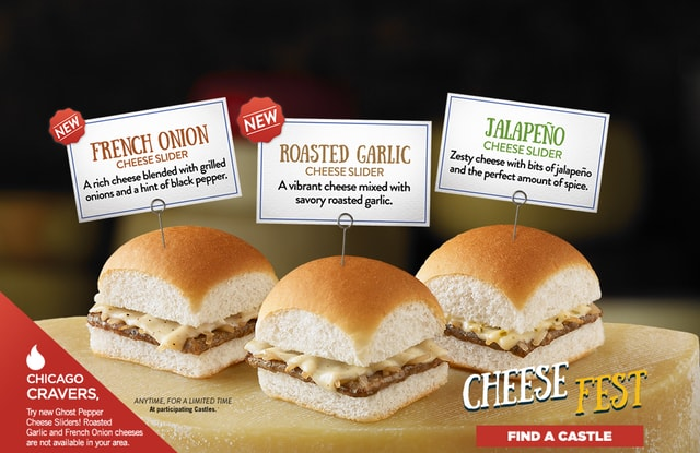 White Castle Cheese Sliders and Sides