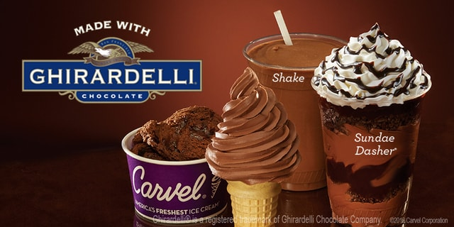 Carvel Soft Ice Cream made with Ghirardelli