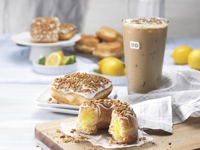 Dunkin Donuts Lemon Croissant Donuts and Key Lime Square