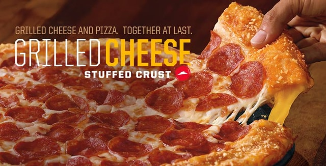 Pizza Hut Grilled Cheese Stuffed Crust