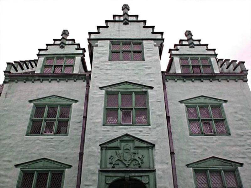 The haunted Plas Mawr, Conwy, Wales