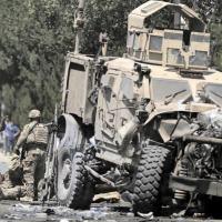 SUICIDE BOMBER ATTACKS NATO CONVOY IN KABUL (inset)