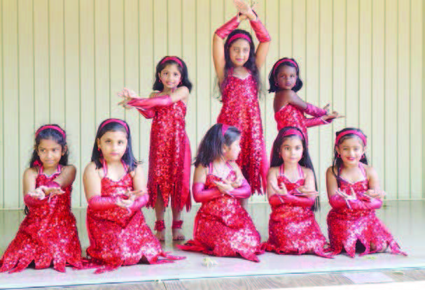 Kids perform a dance at the Independence Day celebrations organized by Indo-American Cultural Foundation of Central New Jersey, August 16.