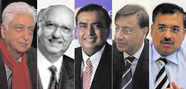 FOUR INDIANS FIGURE IN GLOBAL RICH