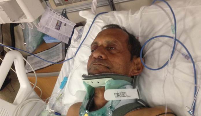 Sureshbhai Patel was set upon by Police Officer Parker after neighbors called in suspicions of a