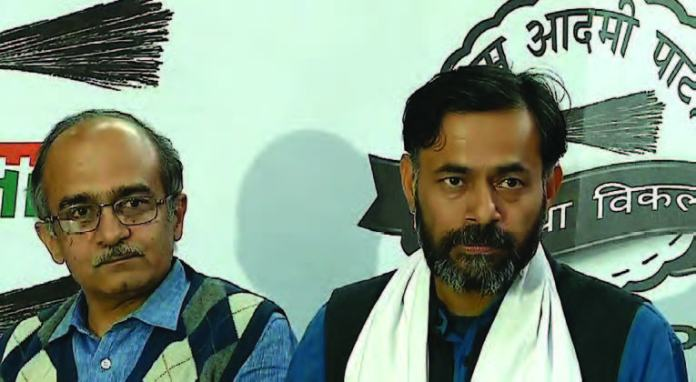 AAP Crisis - Prasanth Bhushan and Yogendra Yadav ousted from AAP PAC