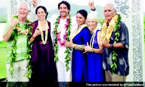 Tulsi Gabbard Gets Married in a Vedic Ceremony