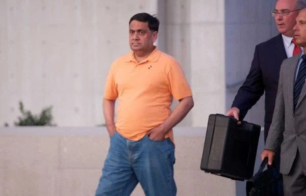 Harendra Singh leaves federal court in Central Islip (Photo courtesy - Newsday)