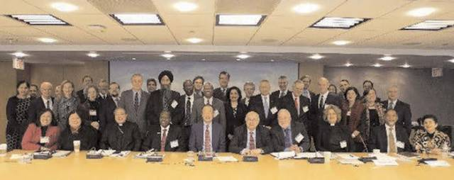Suneet Tuli of EcoSikh with the World Bank president along with faith representatives in Washington, DC