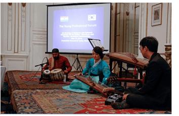 Rami Seo, a world class gayaguemist, gives a performance of traditional Korean music