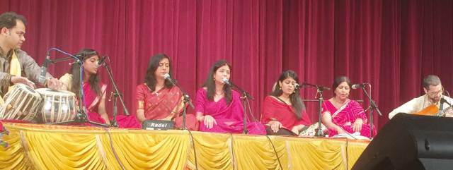 Pandit Jasraj Institute of Music students and teachers singing bhajans