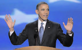 """Obama, in his speech at the Democratic Convention in Philadelphia said leadership meant """"creating the possibility for people of goodwill to join and make things better""""."""