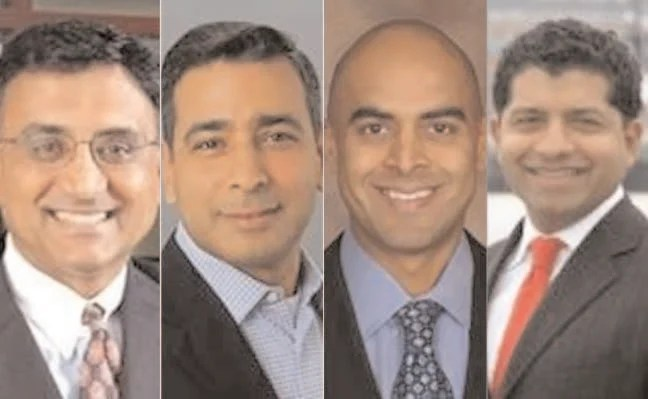 Indian Americans Raj Sharma, Ash Chopra,Sonny Kothari and Raju Pathak have been ranked 17, 129, 176 and 184 respectively on the Forbes 2016 Americas Top Wealth Advisors list