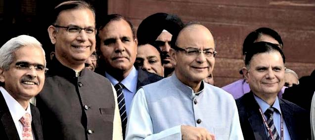 Finance minister Arun Jaitley leaves the north block to present the budget on February 29, 2016.