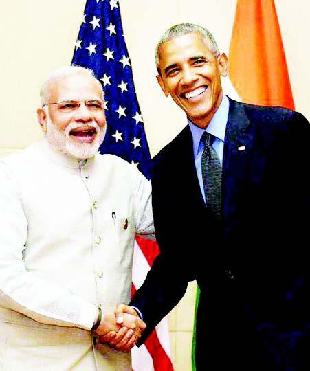 Prime Minister Narendra Modi and US President Barack Obama during a meeting in Vientiane, Laos, on Thursday, September 8.