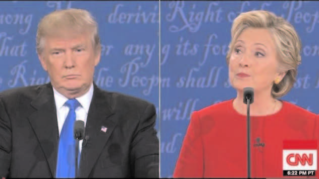 While Hillary Clinton grew in strength the longer the Presidential debate went on, it was Donald Trump who looked visibly tired, and lost for an answer at times