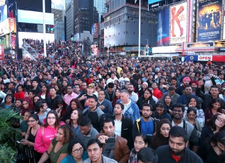 Thousands gathered to experience excitement and joy of Diwali at Times Square