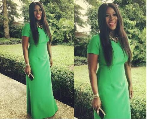 Stephanie Okereke steps out looking dashing in a green dress (photo)