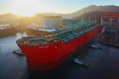 World's largest vessel launched by Samsung
