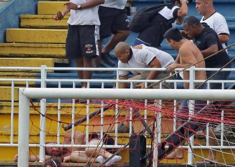 Three spectators seriously hurt at Brazil league match