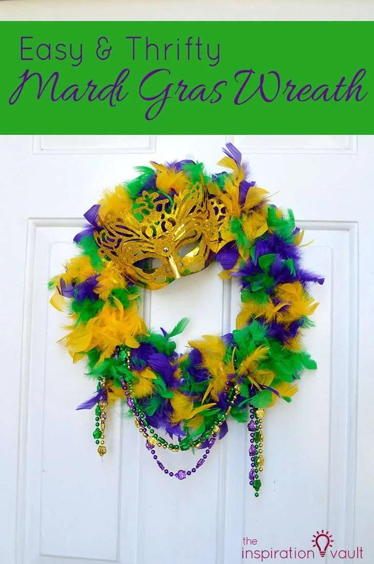 Frantic Easy Mardi Gras Wreath Craft Tutorial Fear Boa Mask Easy Mardi Gras Wreath Inspiration Vault Mardi Gras Wreath Supplies Mardi Gras Wreath Michaels houzz 01 Mardi Gras Wreath