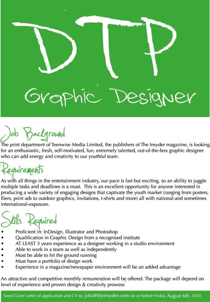 DTP Job Ad