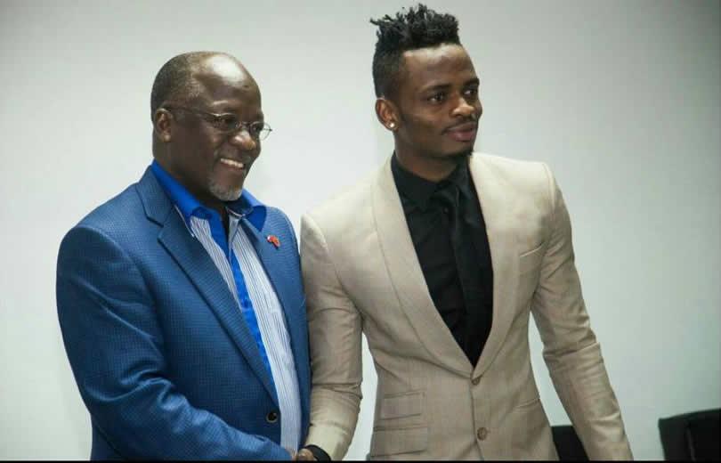 President Magufuli phones Diamond Platinumz on a live TV show (video)