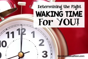 Determining the Right Waking Time For YOU!