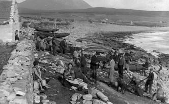 Village of Dooagh, Achill c 1890