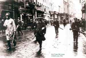 IRA volunteers in Dublin in 1922.