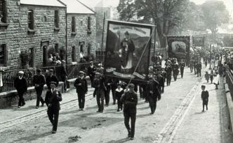 Irish national foresters march