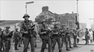 The British Army, deployed to restore order in Belfast in 1969.