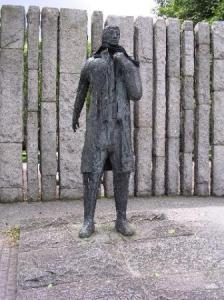 The Wolfe Tone Statue on Stephens Green in Dublin. The remaining IRB funds, which had been frozen in bank account since 1922, were used to build this in 1964.