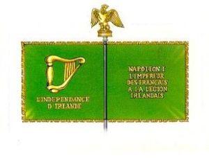 The banner of Napoleon's Irish Legion.