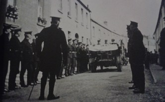 The funeral of Sergeant James King