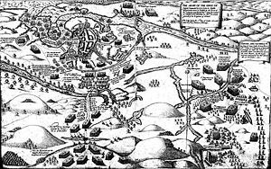 A map of the battle.