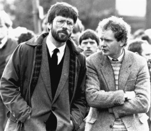 Gerry Adams and Martin McGuinness in 1987.