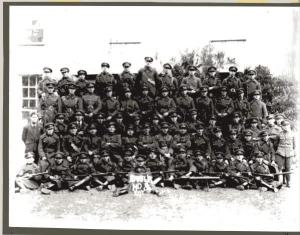 The Dublin Guard National Army unit after taking Clonmel in August 1922.