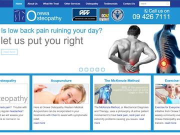 Orewa Osteopath - Modern Wide Fluid Website Design