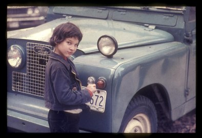 Ronnie hanging out around old cars