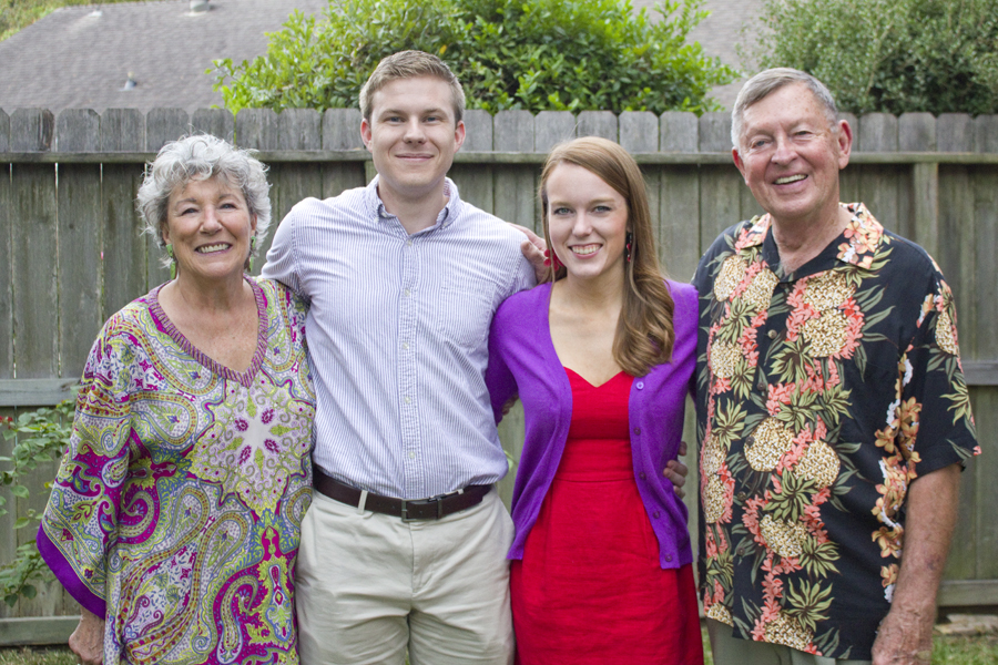 with brandon's grandparents and hostesses of our party in kingwood [photo by rebekah jarratt]