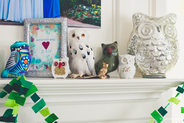 Owls from Rebekah, Brittany, Jacob and Kristina; Art by Jill Bragdon