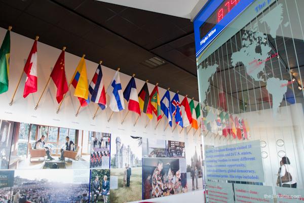 Reagan exhibits - world travel