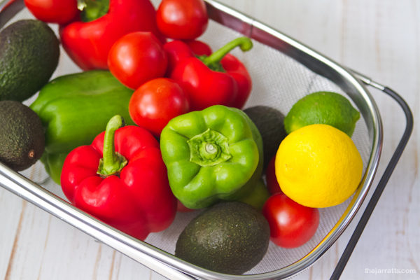 Fruit and veg for salsa and guac