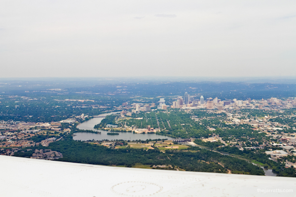 Leaving Texas, but flying home. Can you spot the capitol?