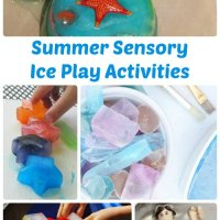 Summer Sensory Activities: Ice Play for Kids