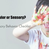 Is it Behavior or Sensory? Sensory Behavior Checklist