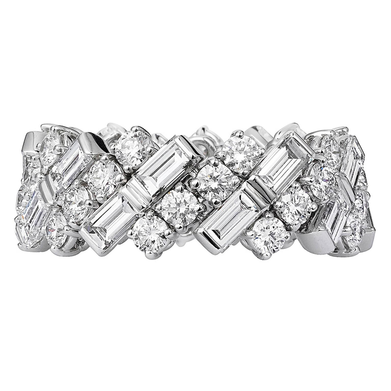cartier creative wedding band in white gold and diamonds cartier wedding band Cartier white gold and diamond ring POA